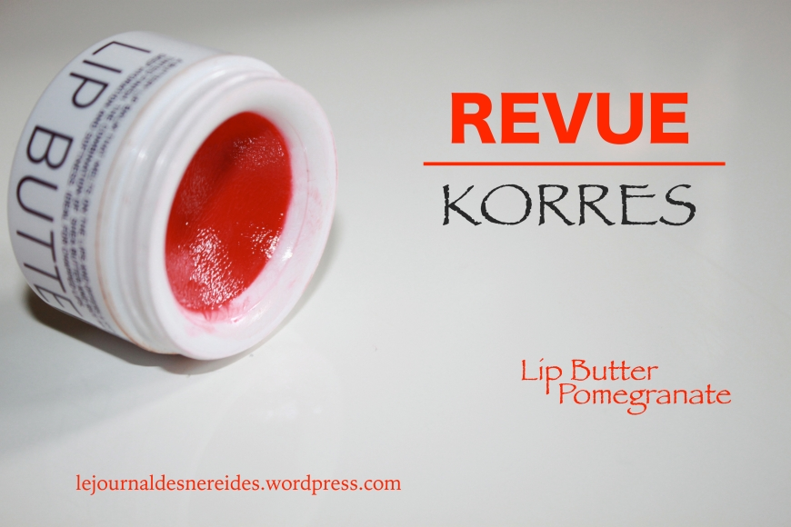 KORRES LIP BUTTER REVIEW