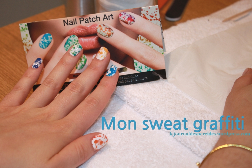 SEPHORA NAIL PATCH Mon sweat graffiti swatch